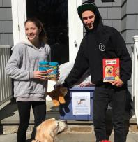 Ted supports a Girl Scout with her project!